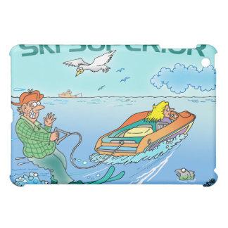 IPAD COVER FEATURES LAKE SUPERIOR CARTOON
