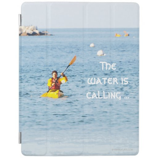 iPad cover featuring kayaker
