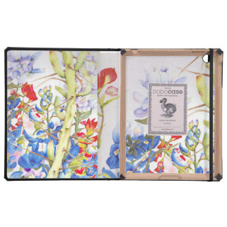 IPad cover in Bluebonnets and Cactus