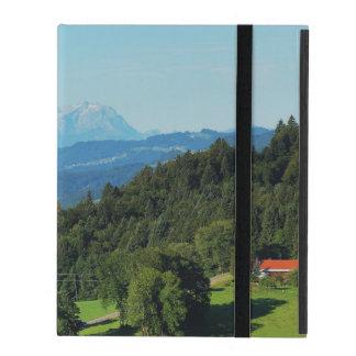 iPad covering alpine panorama with Säntis iPad Folio Cases