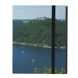 iPad covering Edersee with closed forest-hits a iPad Folio Cases