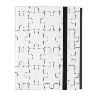 iPad covering with motive for puzzle iPad Cover