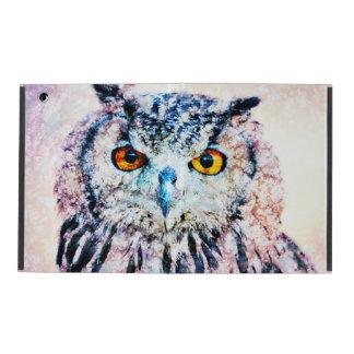 iPad Custom Cases - Owl Mixed Media