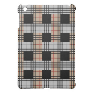 iPad de la armadura de la tela escocesa del moreno