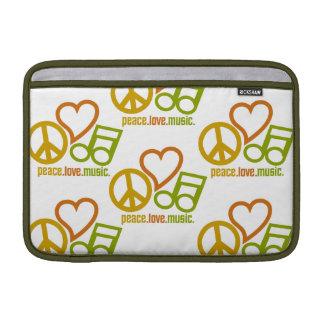 iPad de la Paz-Amor-Música/manga del ordenador por Funda Macbook Air