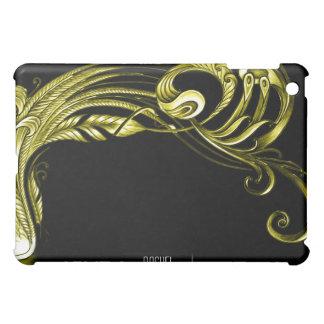 iPad de la voluta de la pluma del oro