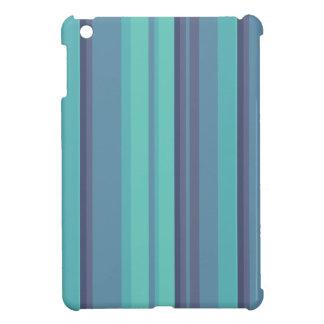 iPad de las rayas de la aguamarina mini iPad Mini Funda