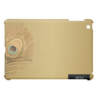 iPad de oro de la pluma del pavo real