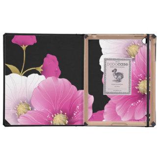 ipad DODOcase Black Pink Flowers iPad Case