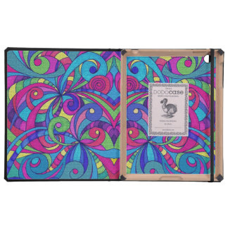 iPad DODOcase Floral abstract background iPad Folio Case