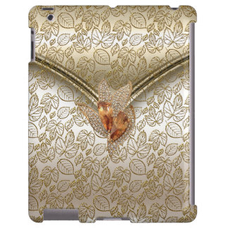 iPad Elegant Damask Caramel Cream Beige Gold Amber