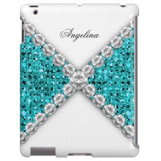 iPad Elegant Glitter Teal Blue Diamonds Jewel