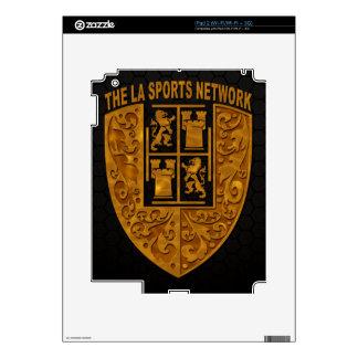 iPad floral 2 del logotipo del escudo del oro de T Calcomanía Para El iPad 2