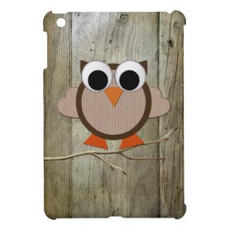 iPad lindo del búho y de madera mini