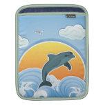 iPad lindo Slevee del delfín de Anventure del océa Funda Para iPads
