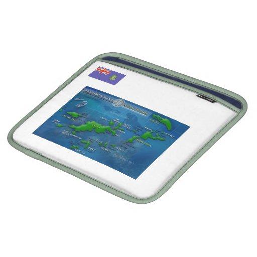 Ipad Map British Virgin Islands iPad Sleeves