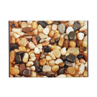 Ipad mini case cover with brown pebble print