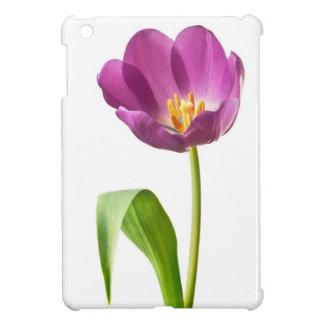 IPad Mini Case Glossy -  Purple Tulip Template