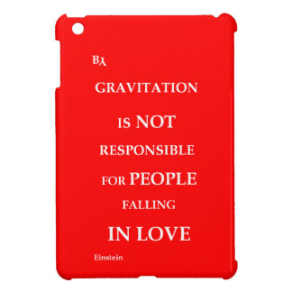 iPad Mini case Gravitation quote red
