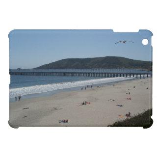iPad Mini Case: Gull Flies Over Avila Beach Pier iPad Mini Cover