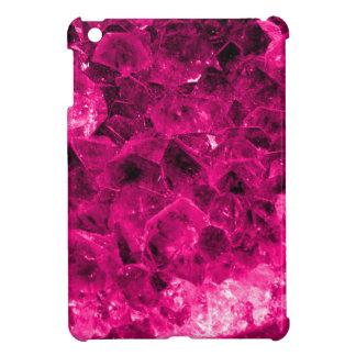 iPad Mini Case Hot Pink Quartz Crystal Cluster