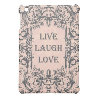 ipad mini case...LIVE LAUGH LOVE pink and grey Case For The iPad Mini