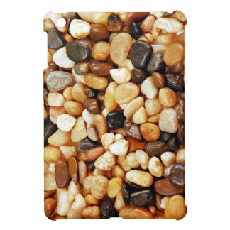 Ipad mini case with brown pebble print