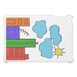 ipad mini case with colorful houses journal