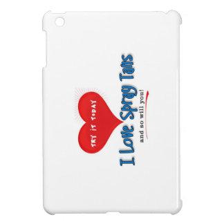 iPad Mini Case with I Love Spray Tans logo
