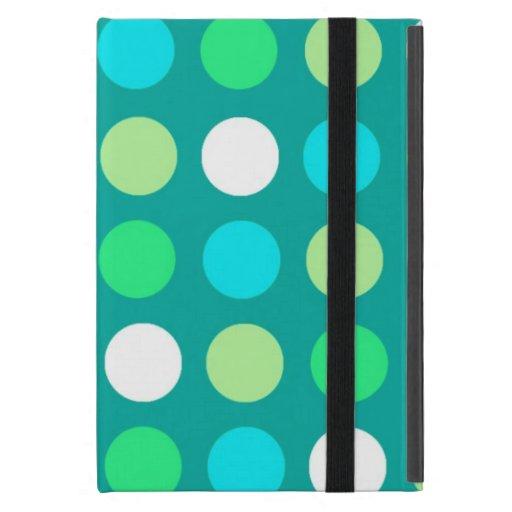 iPad Mini Case with Kickstand Blue Polka Dot