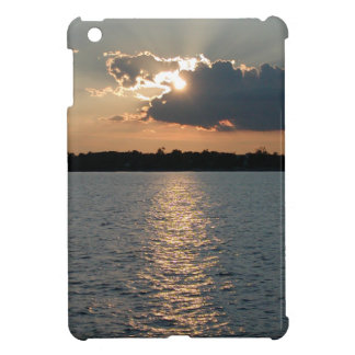 iPad mini case with photo of silver-lining sunset