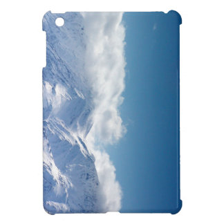 iPad mini case with photo of snowy mountaintop