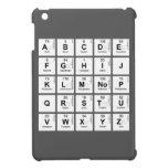 abc de fghij klm nop qrstu vwxyz  iPad Mini Cases