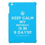 [Cupcake] keep calm my birthday is in 9 days!!  iPad Mini Cases