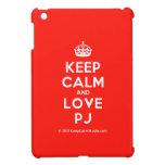 [Crown] keep calm and love pj  iPad Mini Cases