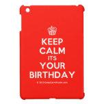 [Cupcake] keep calm its your birthday  iPad Mini Cases