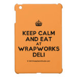 [Crown] keep calm and eat at wrapworks deli  iPad Mini Cases