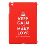 [Crown] keep calm and make lovr  iPad Mini Cases
