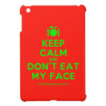 [Cutlery and plate] keep calm and don't eat my face  iPad Mini Cases