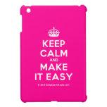 [Crown] keep calm and make it easy  iPad Mini Cases