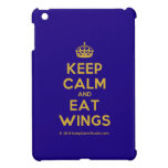 [Crown] keep calm and eat wings  iPad Mini Cases