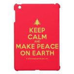[Xmas tree] keep calm and make peace on earth  iPad Mini Cases