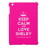 [Knitting crown] keep calm and love shelby  iPad Mini Cases