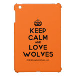 [Crown] keep calm and love wolves  iPad Mini Cases