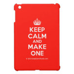 [Crown] keep calm and make one  iPad Mini Cases