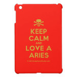 [Skull crossed bones] keep calm and love a aries  iPad Mini Cases