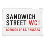 Sandwich Street  iPad Mini Cases