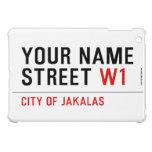 Your Name Street  iPad Mini Cases