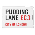 PUDDING LANE  iPad Mini Cases