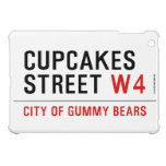 cupcakes Street  iPad Mini Cases